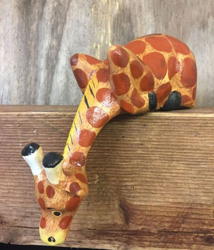 Handcrafted Giraffe  Wooden Animal Shelf Ornament